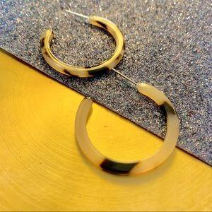 Jewelry - Small Acrylic Hoop Earrings Blonde Tortoise Shell